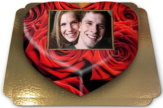 Foto-Torte für Valentinstag