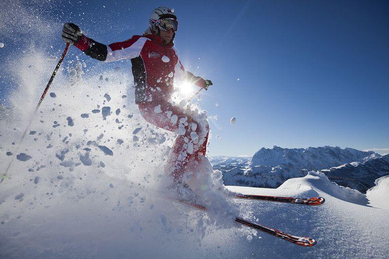 Skifahrer im Zahmen Kaiser