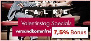 In einer Sonderaktion bekommen Andasa Nutzer auf alle Produkte im Falke Online Shop einen Bargeldbonus von 7,5 Prozent