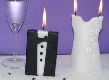 Individuelle Tischkerzen für Hochzeit