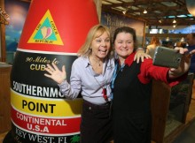 Stacey Mitchell, Director of Sales Florida Keys and Key West (links) mit Yvonne Schmidt, Product Manager Florida Thomas Cook / Neckermann