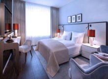 Eines der neuen Zimmer nach der Renovierung im Hotel Königshof