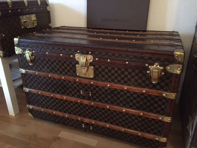 Louis Vuitton Truhe Damier Canvas Steamer trunk Sammlerstück in Top-Zustand