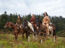 Winnetou, Old Shatterhand und Apanatschi wieder auf dem Pferderücken