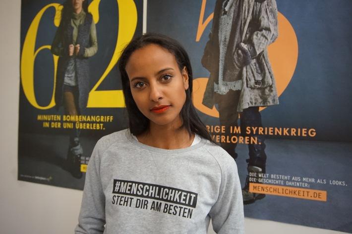 GNTM Gewinnerin Sara Nuru macht mit bei der Kampagne #Menschlichkeit steht dir am besten