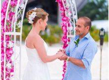 TV Show Star Erdogan Atalay und Katja Ohneck haben sich im Jumeirah Vittaveli Resort das Ja-Wort gegeben