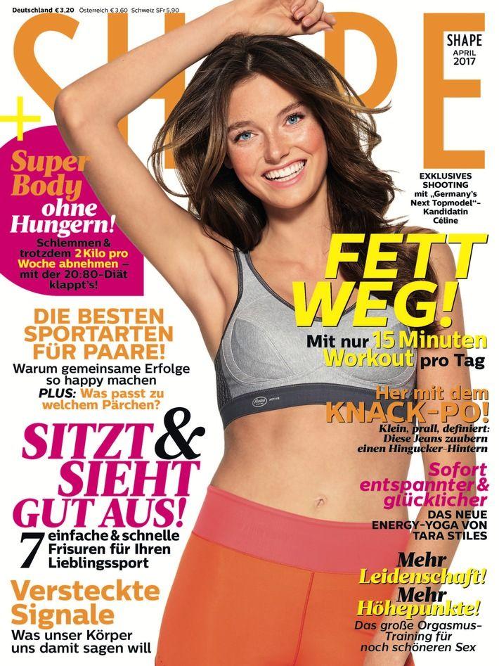 Germanys-next-Topmodel-Kandidatin-C C3 A9line in Shape Cover-Shooting für GNTM-Kandidatin Céline