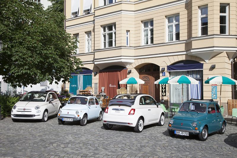 170613 Fiat 500 04 in Fiat 500 auf Zeitreise in München