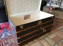 Antique Louis Vuitton Damier trunk Checkerboard canvas Trunk