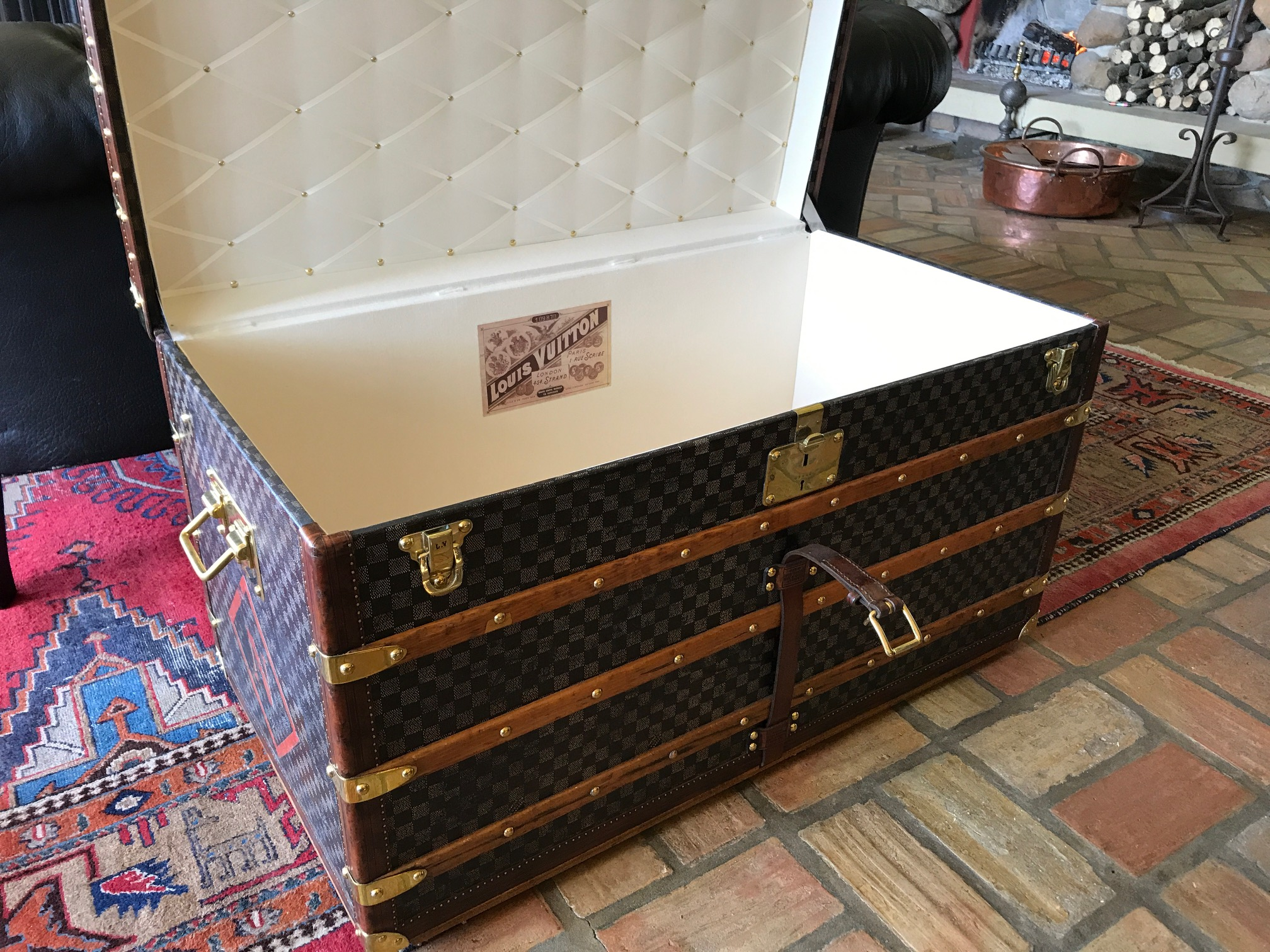 Antique Louis Vuitton Damier trunk Checkerboard canvas Trunk
