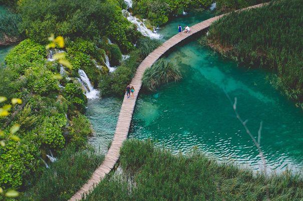 Kroatien lockt mit intakter Natur - Die Plitvitzer Seen aus der Luft