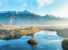Wasser, Berge und Natur