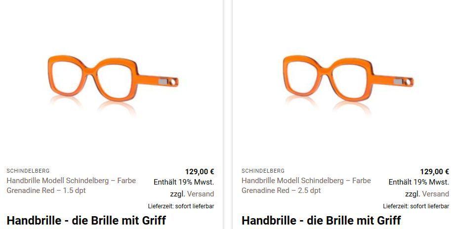 Handbrille