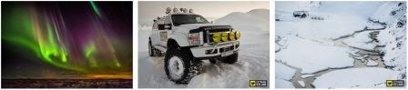Nordlichter in Island, Super Jeep (Foto von Extreme Iceland), Lan