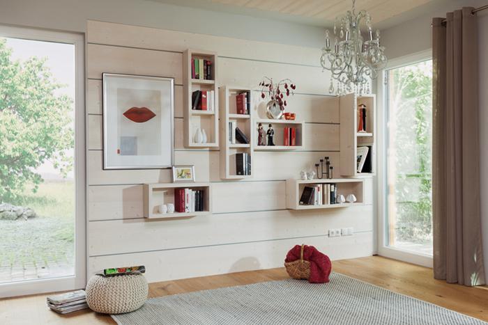 Wand- und Deckenverkleidung Ludwig mit individuell gefertigten Möbeln - einfach zum einhängen