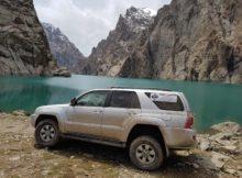 Am Kelsu Lake in Kirgisistan