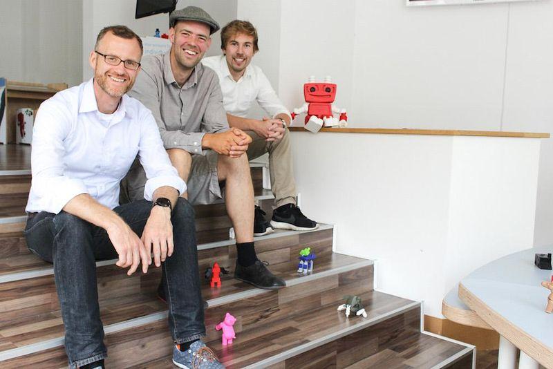 Das Gründerteam von TinkerToys (v.l.n.r.): Dr. Marko Jakob, Sebastian Schröder, Sebastian Friedrich