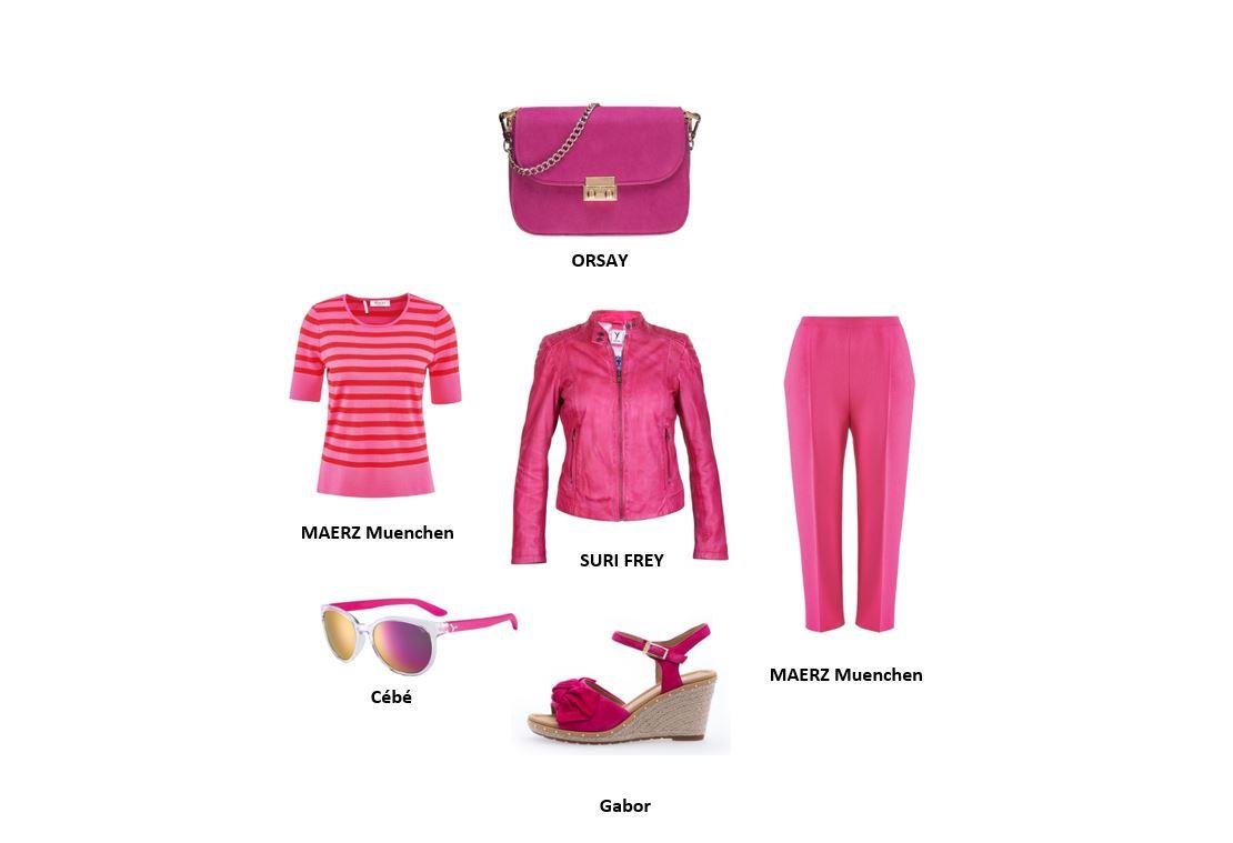 Wer Pink trägt, hat keine Probleme damit, im Mittelpunkt zu stehen