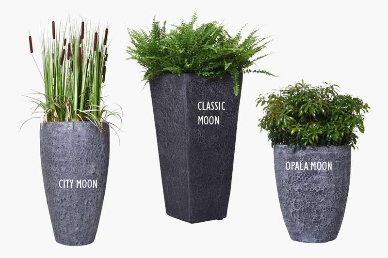 Pflanzkübel im Moon-Design