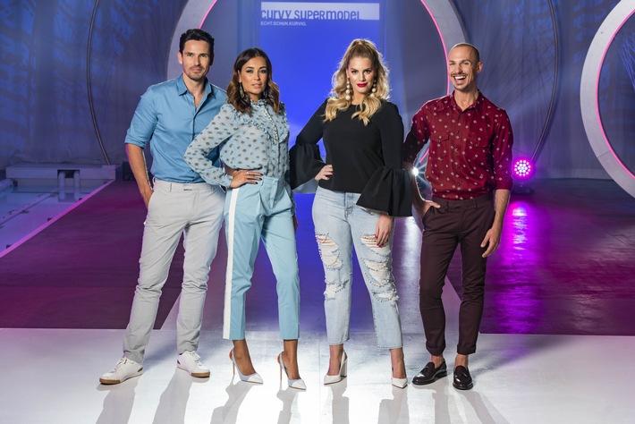 Jan Kralitschka, Jana Ina Zarrella, Angelina Kirsch und Oliver Tienken suchen das Curvy Supermodel 2018