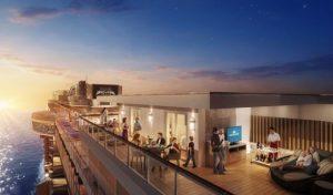Viel Platz - innen wie außen - bieten die beiden Sky Suites auf der neuen Sky Princess