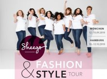 """Ready, steady, style! Das Plus-Size-Label sheego präsentiert mit der """"sheego Fashion & Style Tour"""" diesen Herbst nicht nur die aktuellsten Kollektionen, sondern lädt seine Kundinnen auch zu einem umfangreichen Fashion- und Beauty-Programm ein. In exklusiven Locations in München und Hamburg öffnet an jeweils vier Tagen der sheego Pop-up-Store seine Pforten und lädt alle Curvynistas zur ausgiebigen Styling-Party. Die Tour ist Teil der Kampagne #nobodyisthesame, die sheego im Frühjahr 2018 gelauncht hat, um die Schönheit der weiblichen Vielfalt zu feiern. Das Programm der """"sheego Fashion & Style Tour"""" ist so abwechslungsreich wie die sheego Kollektionen selber und transportiert perfekt das positive Lebensgefühl des Labels. Im Zentrum der Pop-up-Stores steht natürlich die Mode von sheego. In entspannter Atmosphäre können die Highlights der sheego Herbst- / Winter-Kollektion entdeckt, ausprobiert und natürlich gekauft werden. Weil Shopping mit der besten Freundin einfach noch mehr Spaß macht, muss diese natürlich unbedingt dabei sein, wenn es bei coolen Beats und leckeren Drinks zum Late-Night-Shopping geht. Als besonderes Highlight können die Gäste sich im Beauty-Bereich bei einem prickelndem Glas Sekt das Make-up auffrischen lassen oder ganz neue Schmink-Styles ausprobieren. Mit ein bisschen Glück gewinnen Fashion Lover sogar ein Umstyling mit Miyabi Kawai, aktuelles Gesicht der Markenkampagne #nobodyisthesame. Die Modeexpertin zeigt die neusten Trends und berät die Gewinnerinnen, mit welchen Looks sie diesen Herbst ihre Persönlichkeit noch besser zur Geltung bringen. Auf die Persönlichkeit kommt es auch in der Foto-Box an: Hier können sich angehende Models beim offenen Casting als Gesicht der nächsten sheego Kampagne zu #nobodyisthesame bewerben. Der Slogan ist Programm: Bei sheego steht der Bezug zum echten Leben ganz oben. Es wird kein weltfremdes Schönheitsbild konstruiert, sondern die echte Weiblichkeit in all ihren Facetten gefeiert. Diesen selbstbewussten Blick """