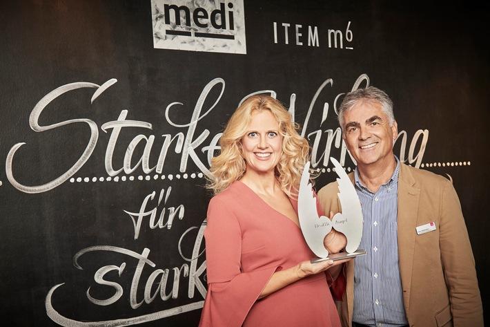 medi Markenbotschafterin Barbara Schöneberger und Hans Wittmann
