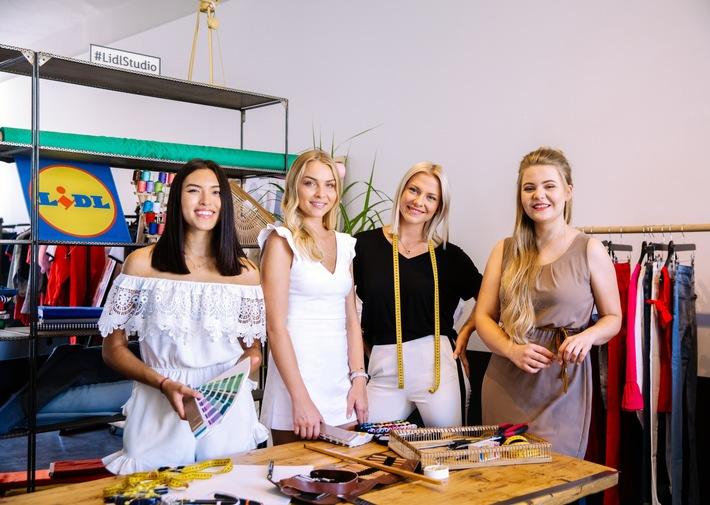 Shanti Joan Tan, Patrizia Palme, Valentina Pahde und Katrin Motz alias DominoKati beim esmara-Design-Day von Lidl