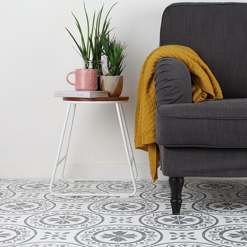 Alte und ausgetretene Fußböden verwandeln sich mit der Rust-Oleum Bodenfarbe in tolle Hingucker.