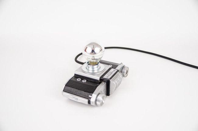 """Upcycling Kameralampe dimmbar """"Praktika FX2"""" - Vintage"""