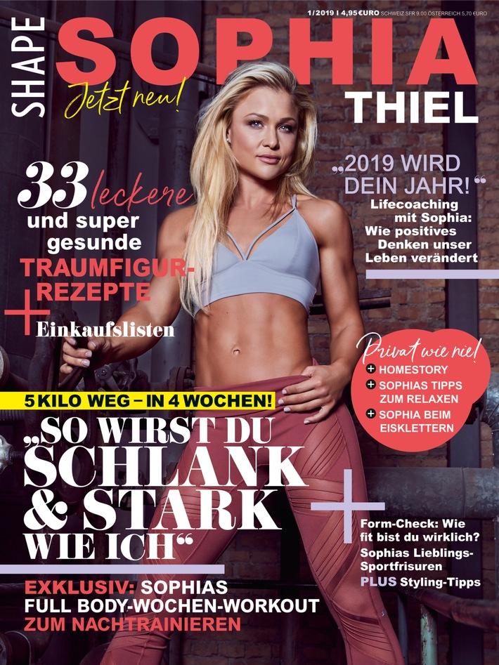 "Kraftvolle Kooperation Fitness-Magazin Shape launcht ""Sophia Thiel Magazin"""