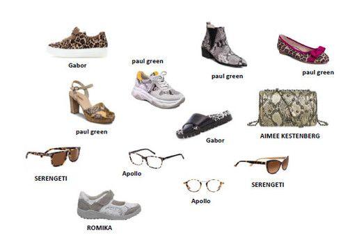 Schuhen mit Animal-Print
