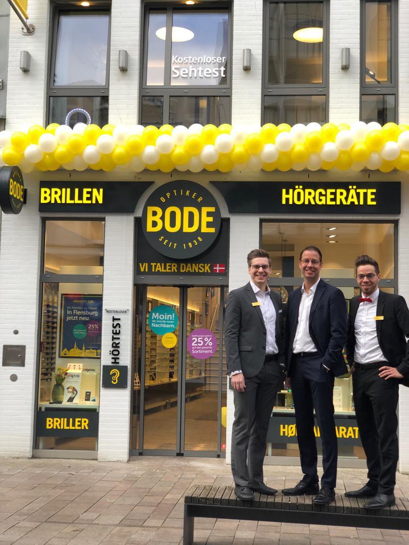 v.l.n.r: Hannes Anke-Schmidt- Ansprechpartner Akustik, Carsten Bode - Inhaber, Christian Wolfgram