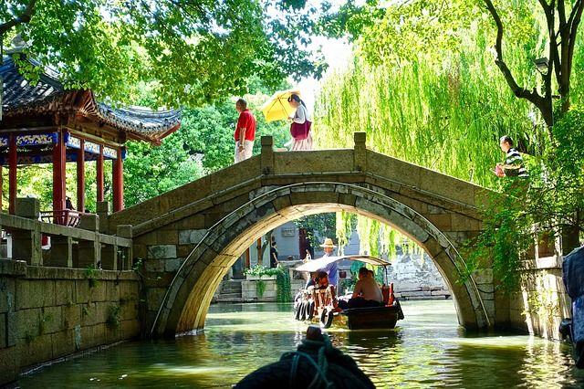 Kanäle und Brücken ohne Ende: Impression aus Suzhou