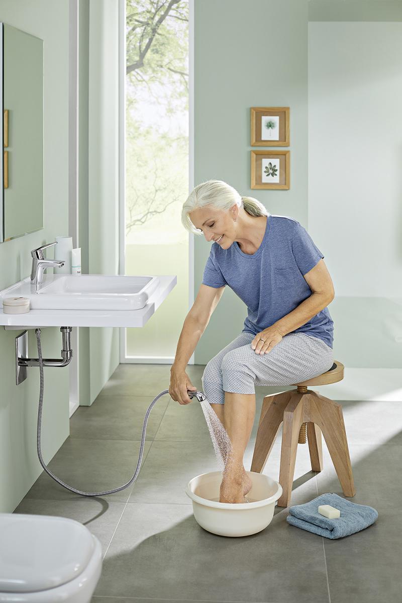 Die praktische Funktionsbrause für mehr Bewegungsfreiheit am Waschtisch
