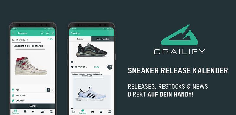 Grailify - Die App für echte Sneakerheads