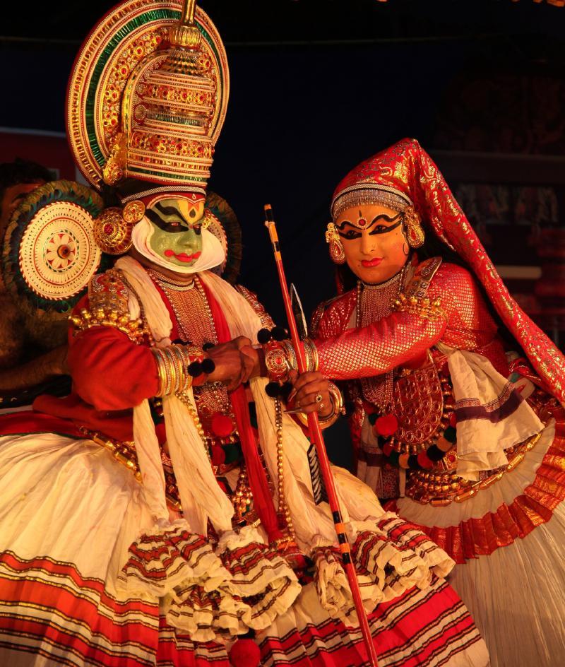 Kathakali Tanz in Kerala