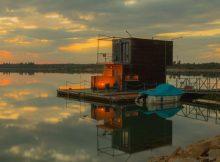 Sonnenuntergang auf dem Partwitzer See. Foto: Tourismusverband Lausitzer Seenland, Kathrin Winkler