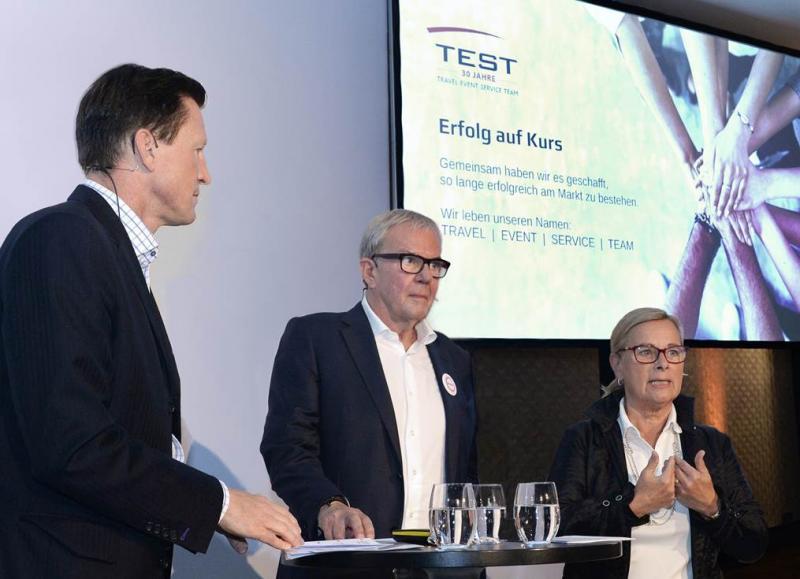Christian Keller (links) - Bernhard Käselau - Elisabeth Unger (rechts)
