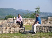 Zwei Wander-Enthusiasten unter sich: Stephan Prinz zur Lippe und Manuel Andrack m
