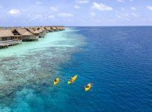Vielerlei Wassersport beim Waldorf Astoria Maldives