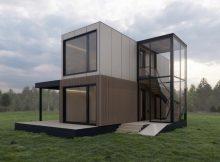 5-Zimmer-Haus gestapelt: 2 Module, 5 Zimmer, 2 Ebenen