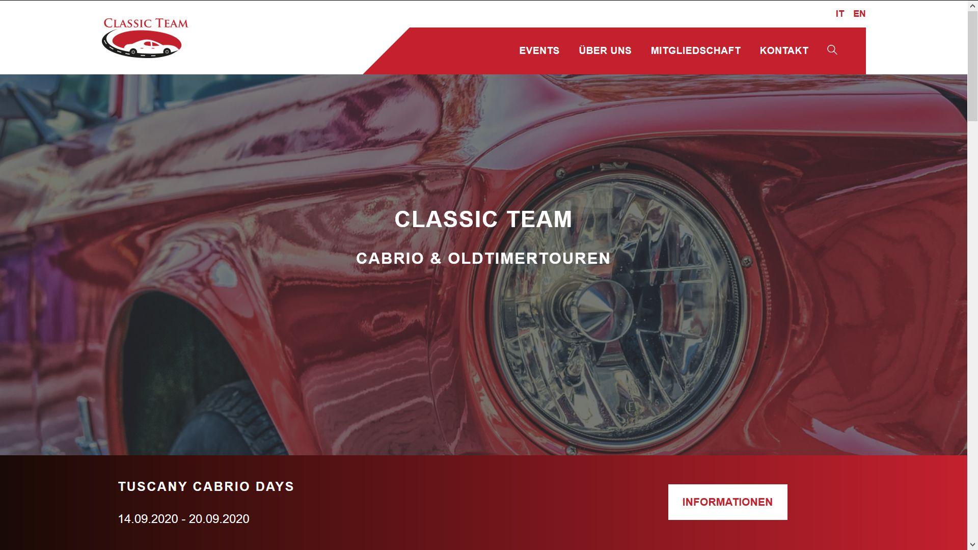 Cabrio und Oldtimer-Reisen