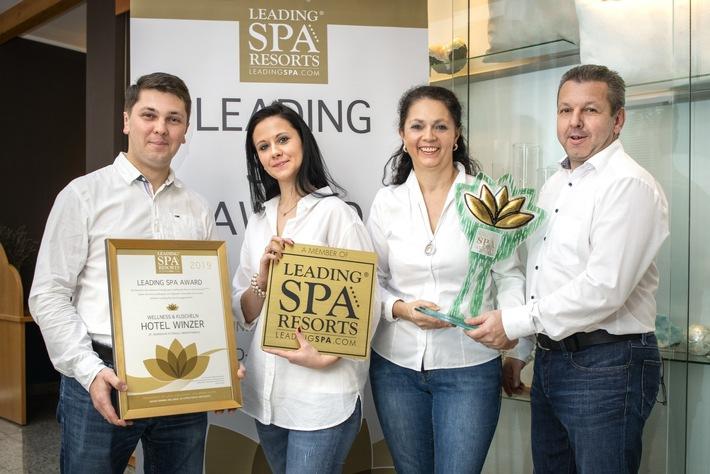 Der Leading Spa Award 2019 nach St. Georgen im schöne Oberösterreich an das Hotel Winzer Wellness & Kuscheln