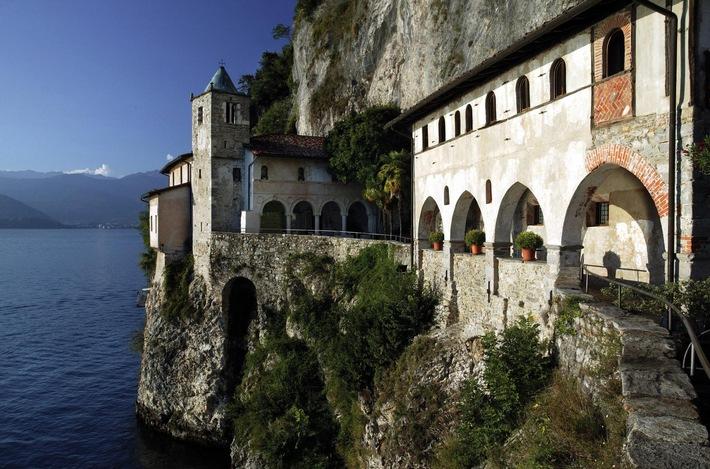 Einsiedlerei Santa Caterina, Lago Maggiore, Italien