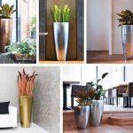Garten-Trend: Metallic-Look bei Blumenkübeln und anderen Pflanzgefäßen
