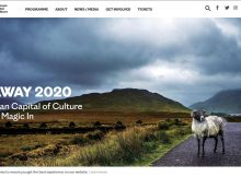 Screenshot Website Galway Festival 2020 Irland