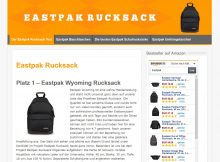 Screenshot Website Eastpak