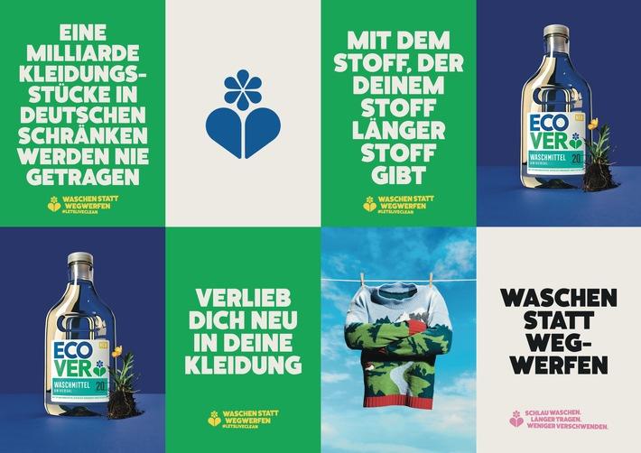 """Ecover startet Kampagne """"WASCHEN STATT WEGWERFEN"""""""