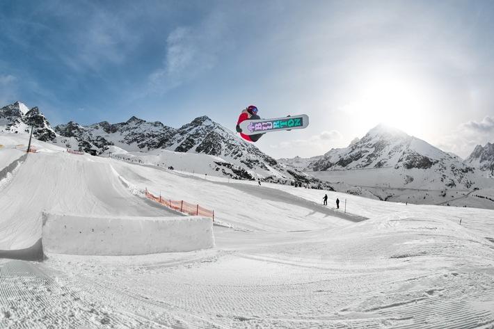 KPark Kühtai noch bis 19.04. Mittelpunkt der Snowboarder-Szene